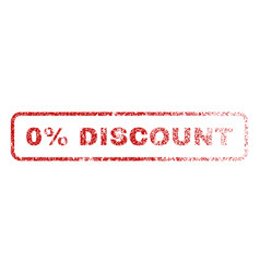 0 percent discount rubber stamp vector