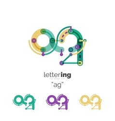 Letters logo icon vector