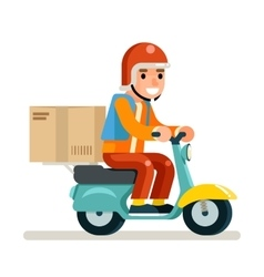 Delivery courier scooter symbol box icon concept vector