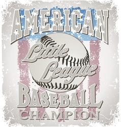 Baseball Little League vector image