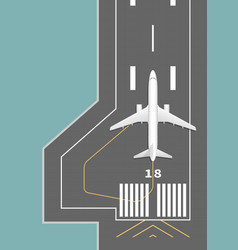airplane on the runway vector image