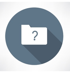 unknown folder icon vector image