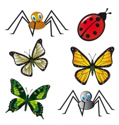 insect collection vector image