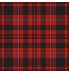 seamless - red tartan vector image