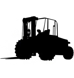 Rough terrain forklift silhouette vector