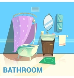 Bathroom retro design vector