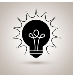 Bulb light design vector