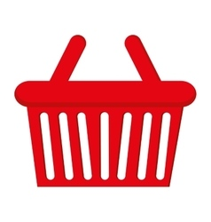Basket shopping buy flat icon vector