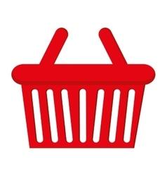 basket shopping buy flat icon vector image