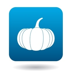Pumpkin icon in flat style vector
