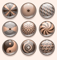 Abstract App Icons vector image vector image