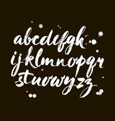 Acrylic brush style hand drawn alphabet vector