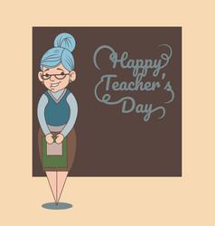 an of cartoon teacher vector image