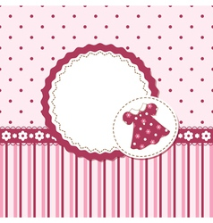 Baby girl background vector image