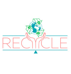 banner about recycle vector image vector image