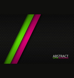 black abstract background with two bright stripes vector image vector image