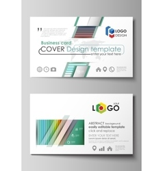 Business card templates layout flat style vector