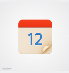 Calendar icon on bright background vector