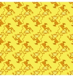 Cartoon Monkey Seamless Pattern vector image vector image