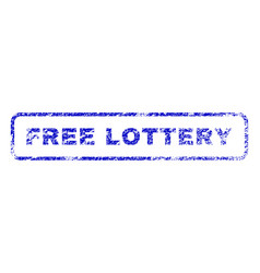 Free lottery rubber stamp vector