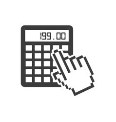 Hand pointer cursor ecommerce icon vector