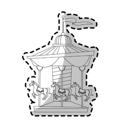 Isolated carnival carousel design vector