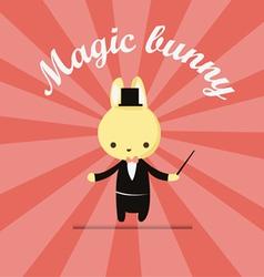 magic bunny 2 vector image