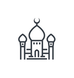 mosque icon linear style vector image vector image