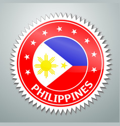 Philippine flag label vector