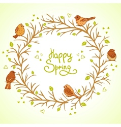 Sparrows spring vector