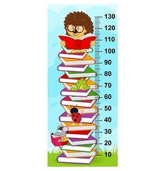 Stack of books height measure vector