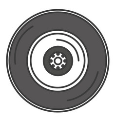 Tire car isolated icon vector