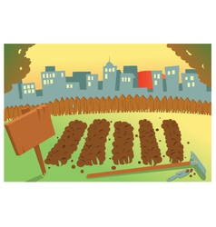 Vegetable garden in a city vector
