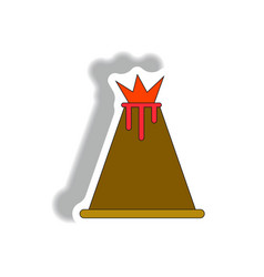 Volcano sticker vector