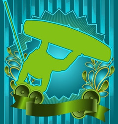 wakeboard vintage design vector image vector image