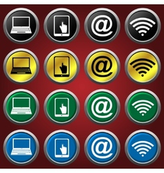 Web icons icons vector image vector image