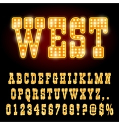Western night font vector