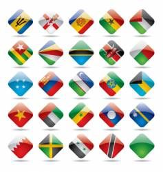 World flag icons vector