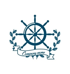 Frame maritime nautical isolated vector