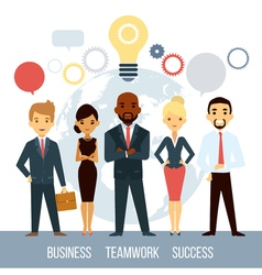 Business Cooperation Of People Worldwide vector image