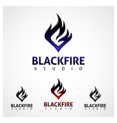 Black fire studio vector