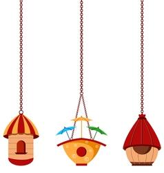 Modern Bird Houses vector image