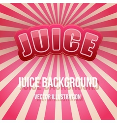 Background of label for berry juice bright premium vector