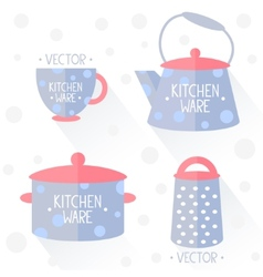 Kitchenware flat vector