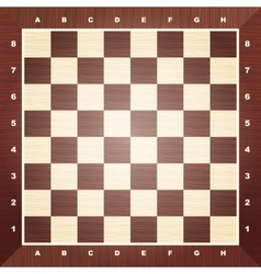 Empty chess board vector