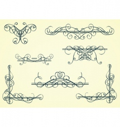 Vintage decorative garnishes vector