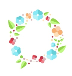 Beautiful greeting card with floral wreath Bright vector image