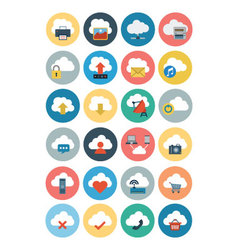 Cloud computing flat icons 1 vector