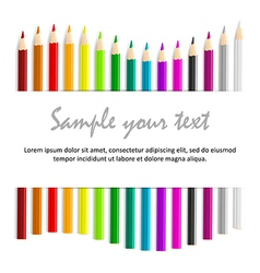 Concept idea with colorful pencils as waved frame vector