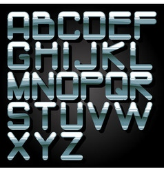 Alphabet chrome vector